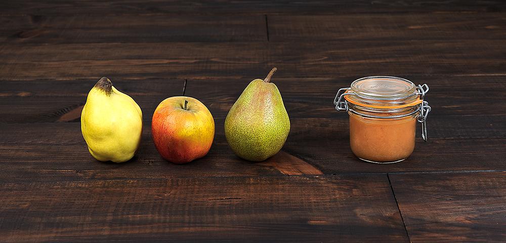 recette compote pomme poire coing en conserve le parfait. Black Bedroom Furniture Sets. Home Design Ideas