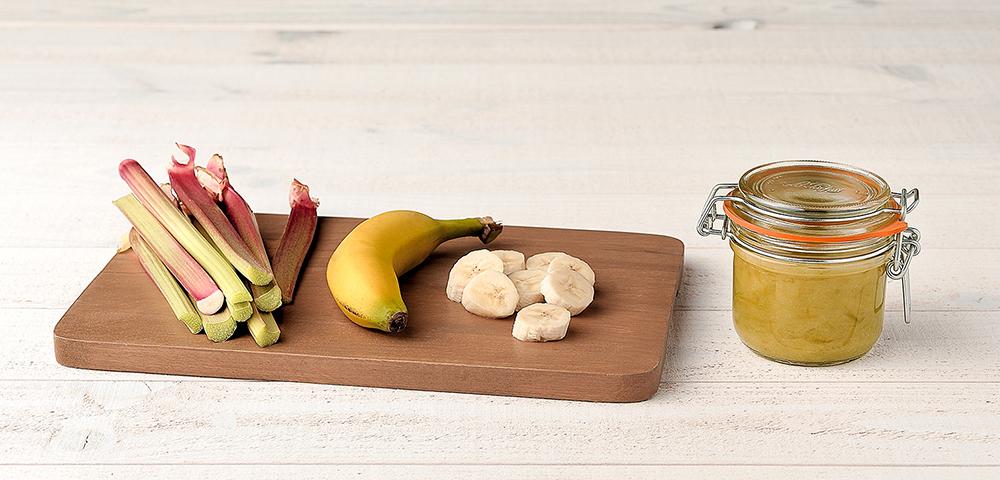 Recette conserve de compote rhubarbe banane le parfait - Conserver de la compote maison ...
