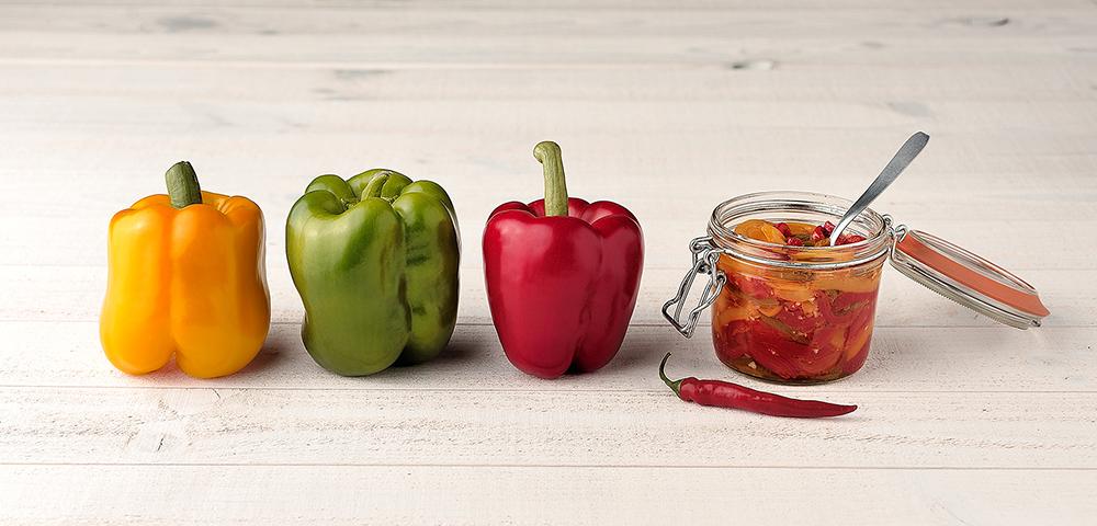 Recette compote de poivrons en conserve le parfait - Que cuisiner avec des poivrons ...