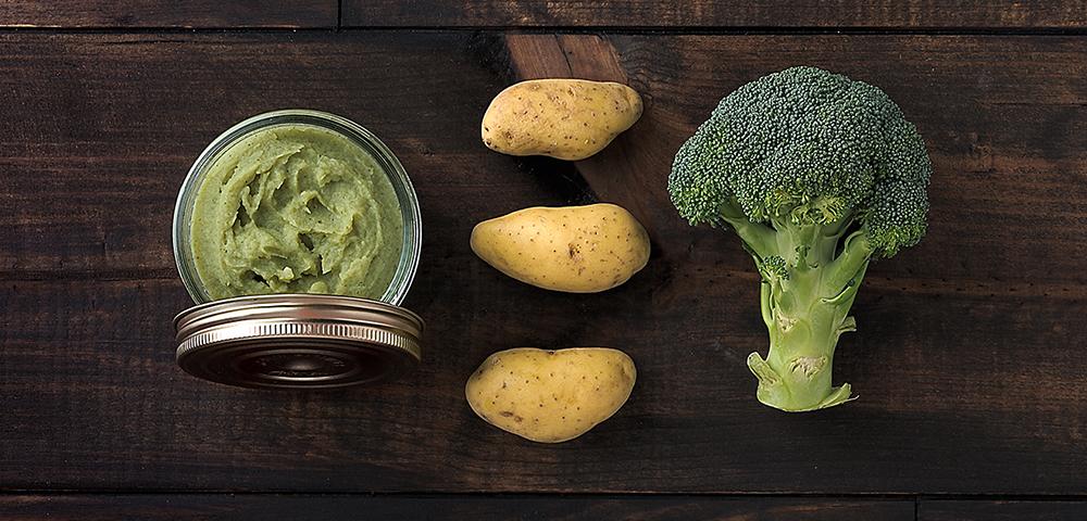 recette conserve de pur e de pommes de terre brocolis le parfait. Black Bedroom Furniture Sets. Home Design Ideas