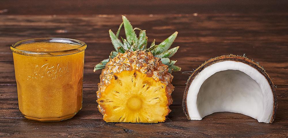 confiture d'ananas noix de coco