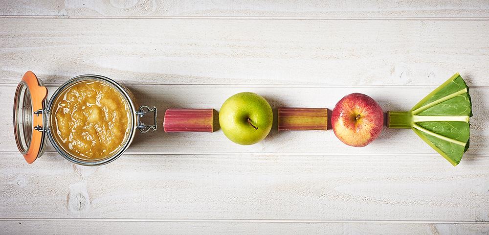 recette compote de pommes rhubarbe en conserve le parfait. Black Bedroom Furniture Sets. Home Design Ideas