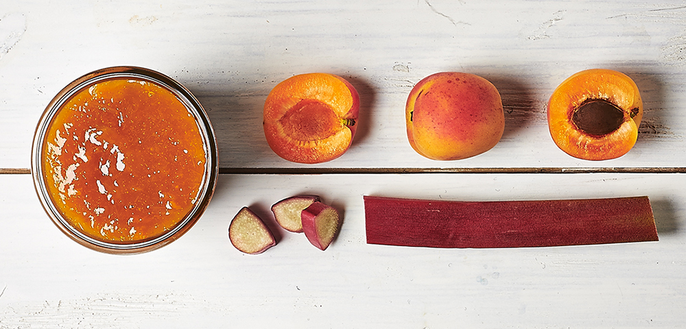Confiture abricots/rhubarbe