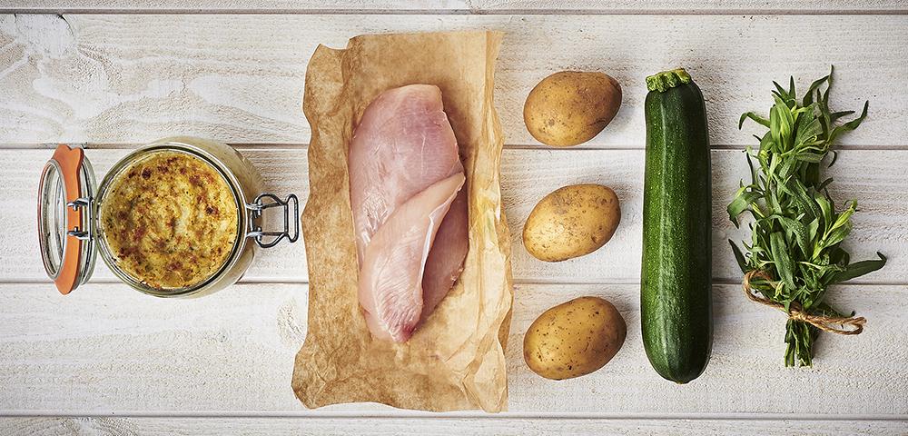 Recette hachis parmentier de volaille aux courgettes et l 39 estragon le parfait - Recette hachis parmentier traditionnel ...