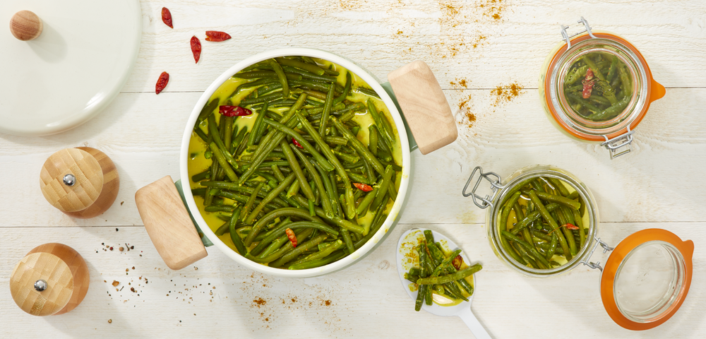Curry de haricots verts